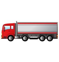Red modern truck vector