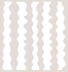 seamless pattern hand drawn vertical wavy lines vector image