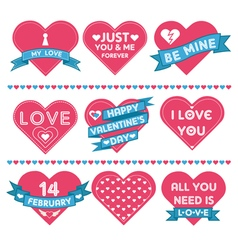 Set of hearts for valentines day celebration vector