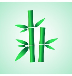 Simple green bamboo plant leaves icon eps10 vector