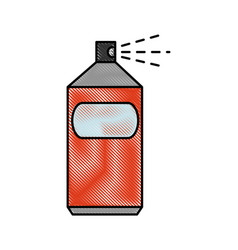Spray can object vector