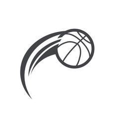 swoosh basktetball logo icon vector image vector image