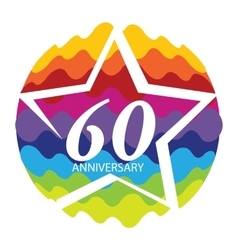 Template Logo 60 Anniversary vector image vector image