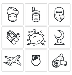 Threat to life icons vector