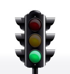 Traffic light green vector