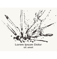 Splatter black ink splash background vector