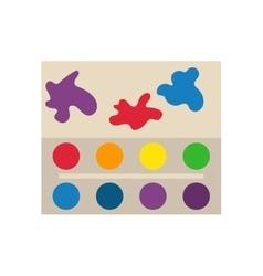 Multicolor watercolour paint box vector