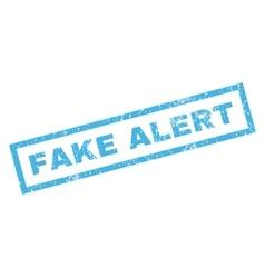 Fake alert rubber stamp vector