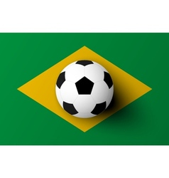 Soccer ball on brazil flag vector