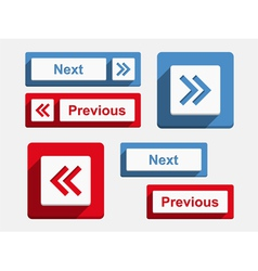 Next and Previous Buttons vector image