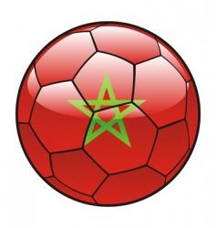 morocco flag on soccer ball vector image