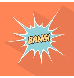 Cartoon bang design element for the site vector