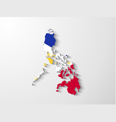 Philippines map with shadow effect presentation vector