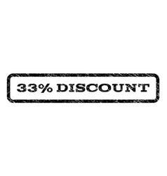 33 percent discount watermark stamp vector image vector image