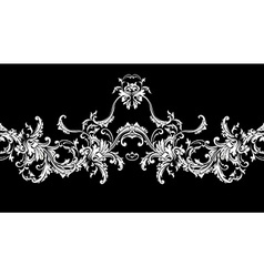 Ornamental border frame baroque pattern seamless vector