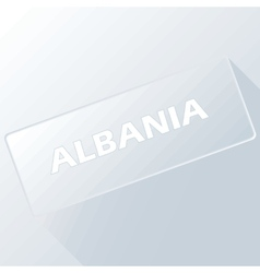 Albania unique button vector