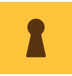 The keyhole icon lock symbol flat vector