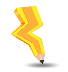 Spark bolt yellow pencil idea vector