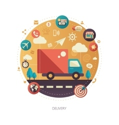 Delivery services modern flat design business vector