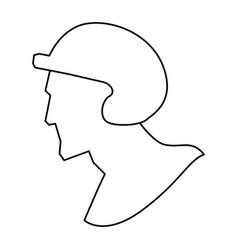 baseball player pictogram vector image vector image