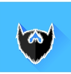Black beard icon vector