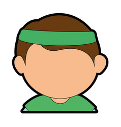 boy face cartoon vector image