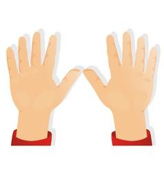 childrens hands vector image