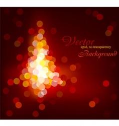 Christmas tree defocused light vector image vector image