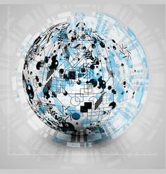 Earth globe for advertising vector