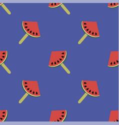 Fresh slice of watermelon seamless pattern vector