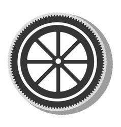 Gear bike wheel icon vector