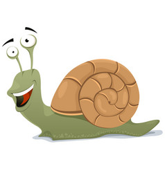 Happy snail character vector