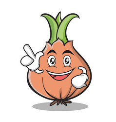 have an idea onion character cartoon vector image vector image