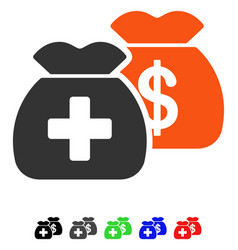 Health care funds flat icon vector