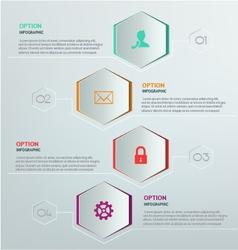 Hexagon infographic vector image vector image