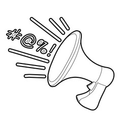 Loudspeaker icon outline vector