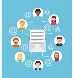 mail marketing design vector image