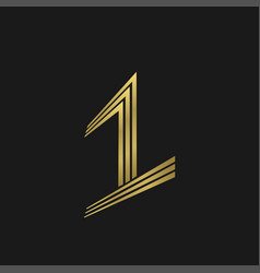 number one symbol vector image vector image