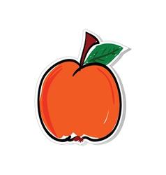 Peach for sticker vector