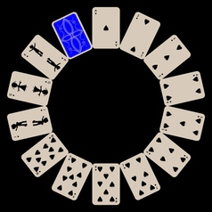 poker cards vector image