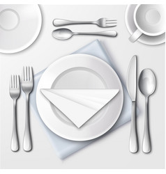 restaurant table setting vector image