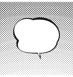 Retro Style Speech Bubble vector image vector image