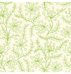 seamless pattern with green plants vector image vector image