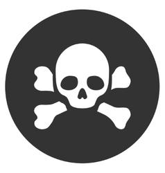 Skull Black Spot Flat Icon vector image vector image