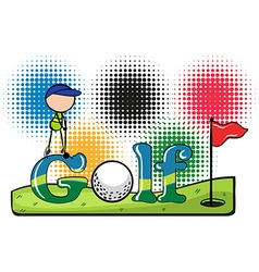 Sport theme with golf vector image