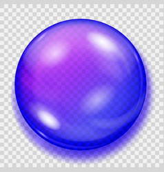 Transparent blue sphere with shadow vector