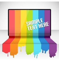 tv with rainbow paint vector image vector image