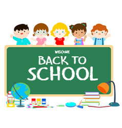 welcome back to school blackboard vector image