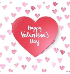 paper Valentines heart vector image