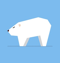 White bear in flat style vector